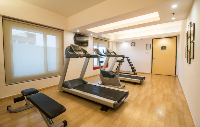 Fitness Center at Red Fox Jaipur Hotel
